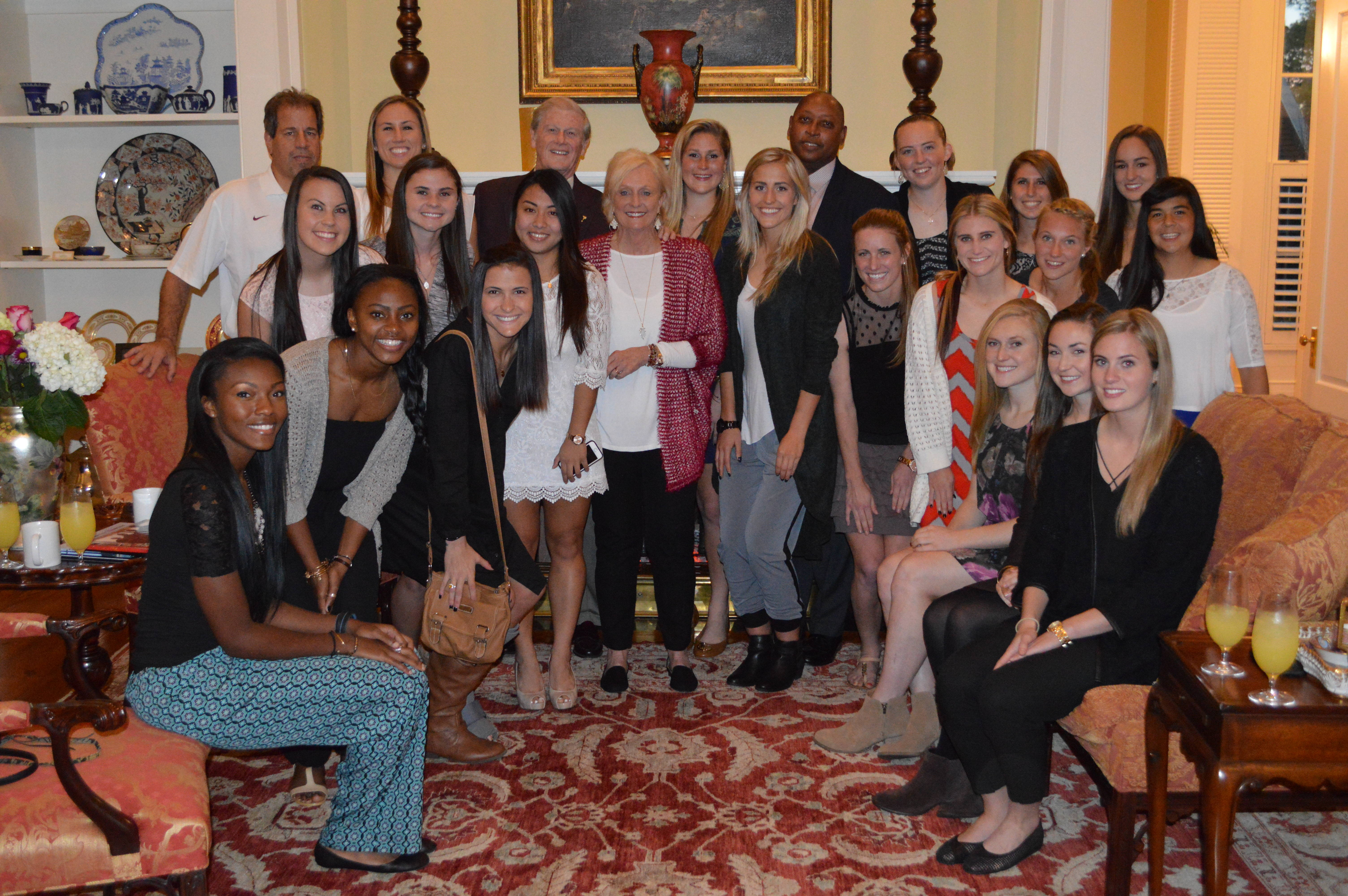 Seminole Soccer at the University President's house.