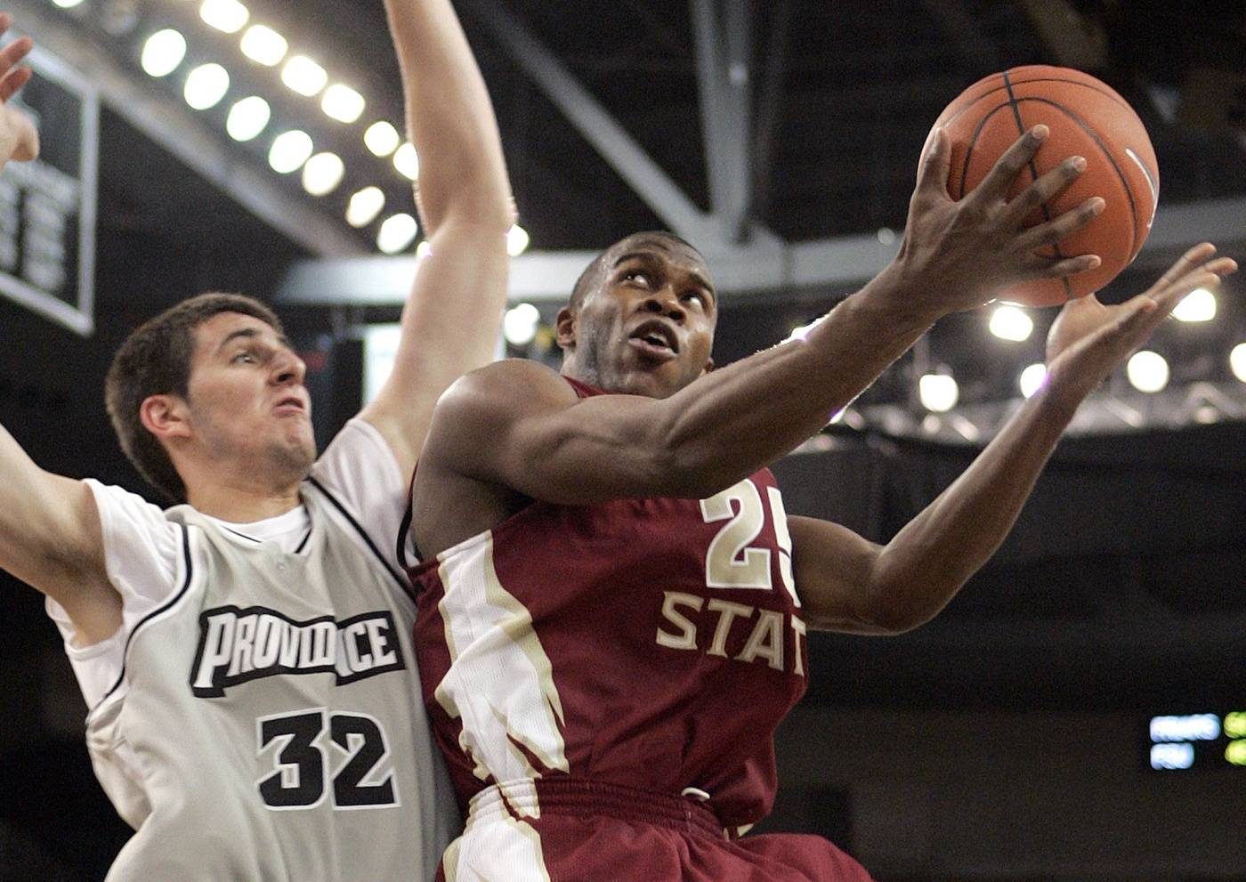 Florida State's Jason Rich goes up to shoot against Providence's Randall Hanke in the second half.
