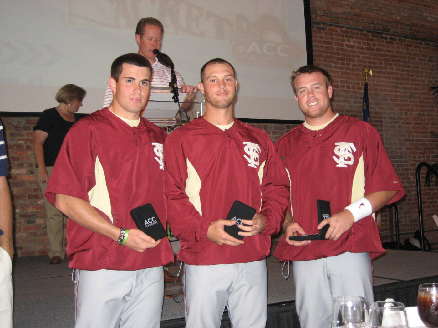 Second Team All-ACC (L to R): Stephen Cardullo, Mike McGee and Jason Stidham