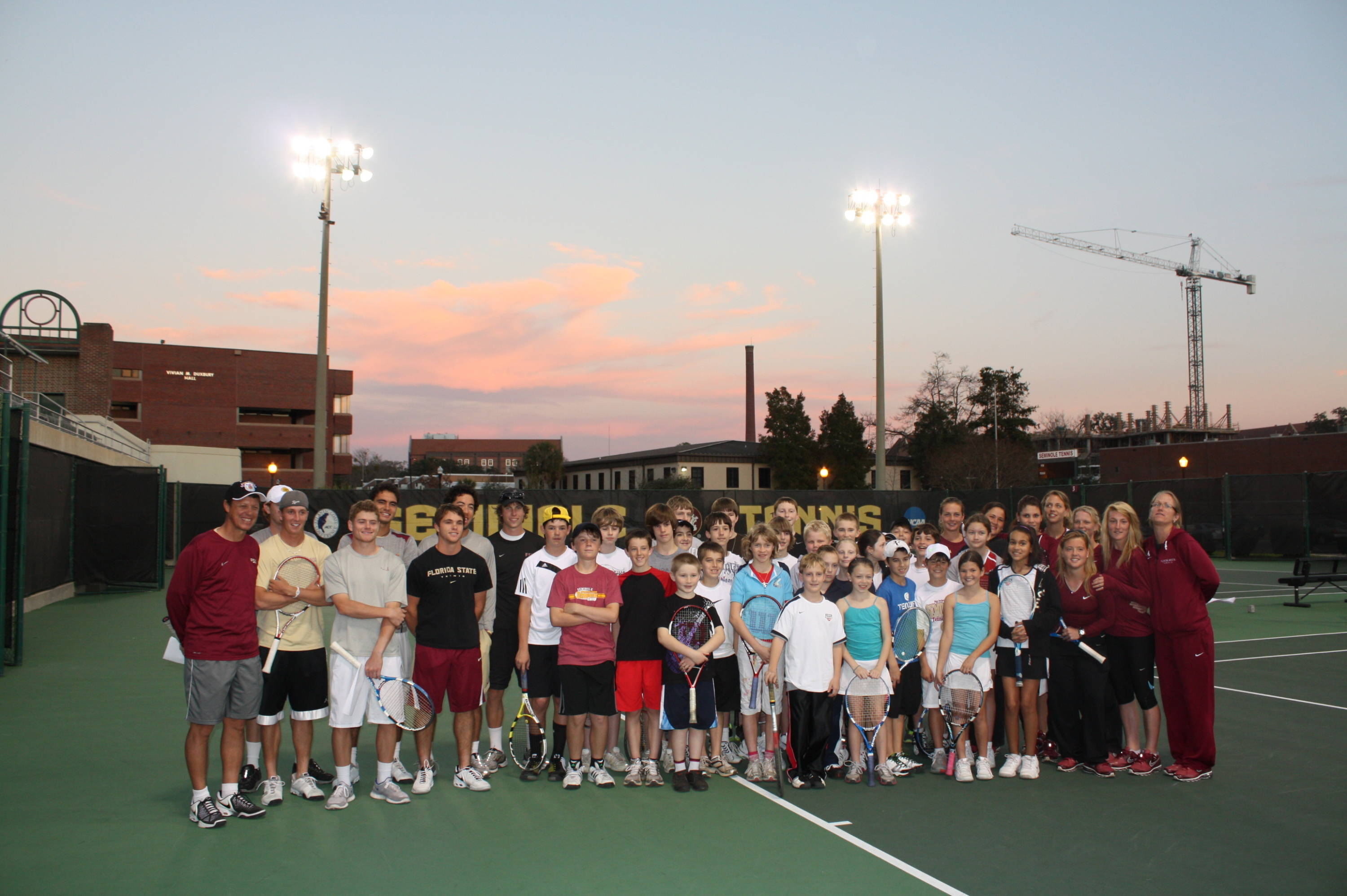 Tennis community clinic (group shot)