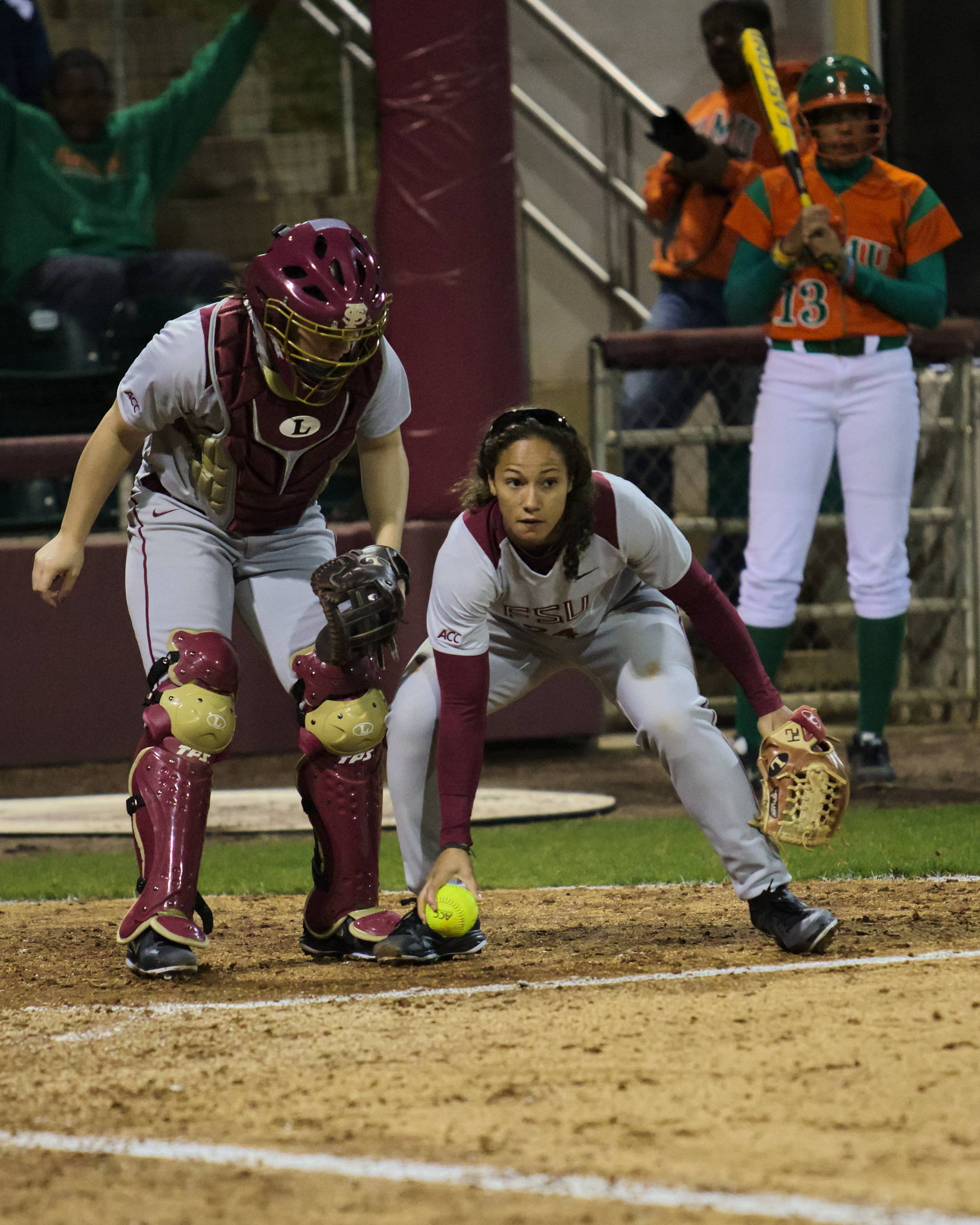 Briana Hamilton (24), keeping the ball foul, FSU vs FAMU, 02/08/13. (Photo by Steve Musco)