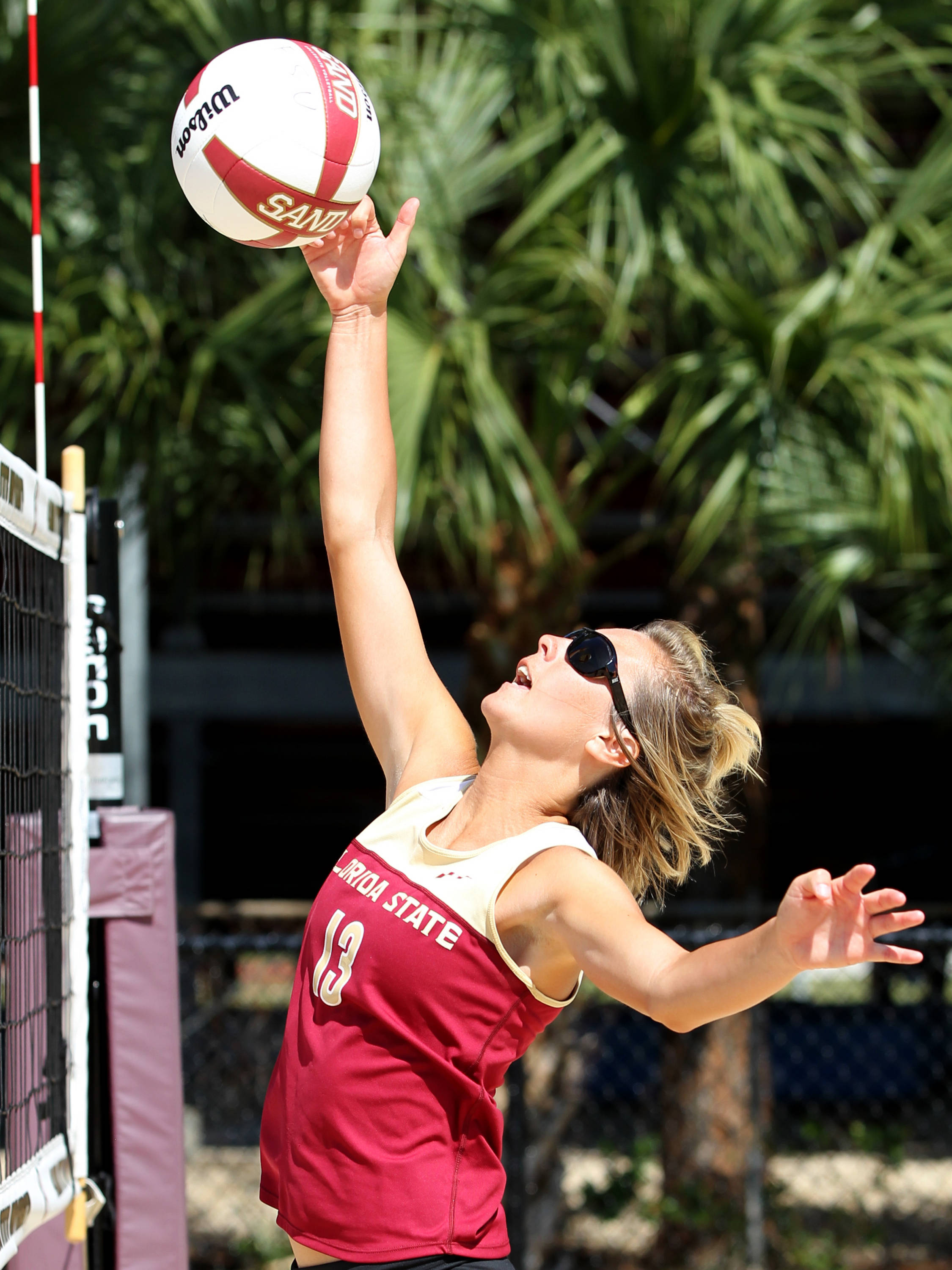 Jeassica McGregor, Sand Volleyball Tournament,  04/20/13 . (Photo by Steve Musco)