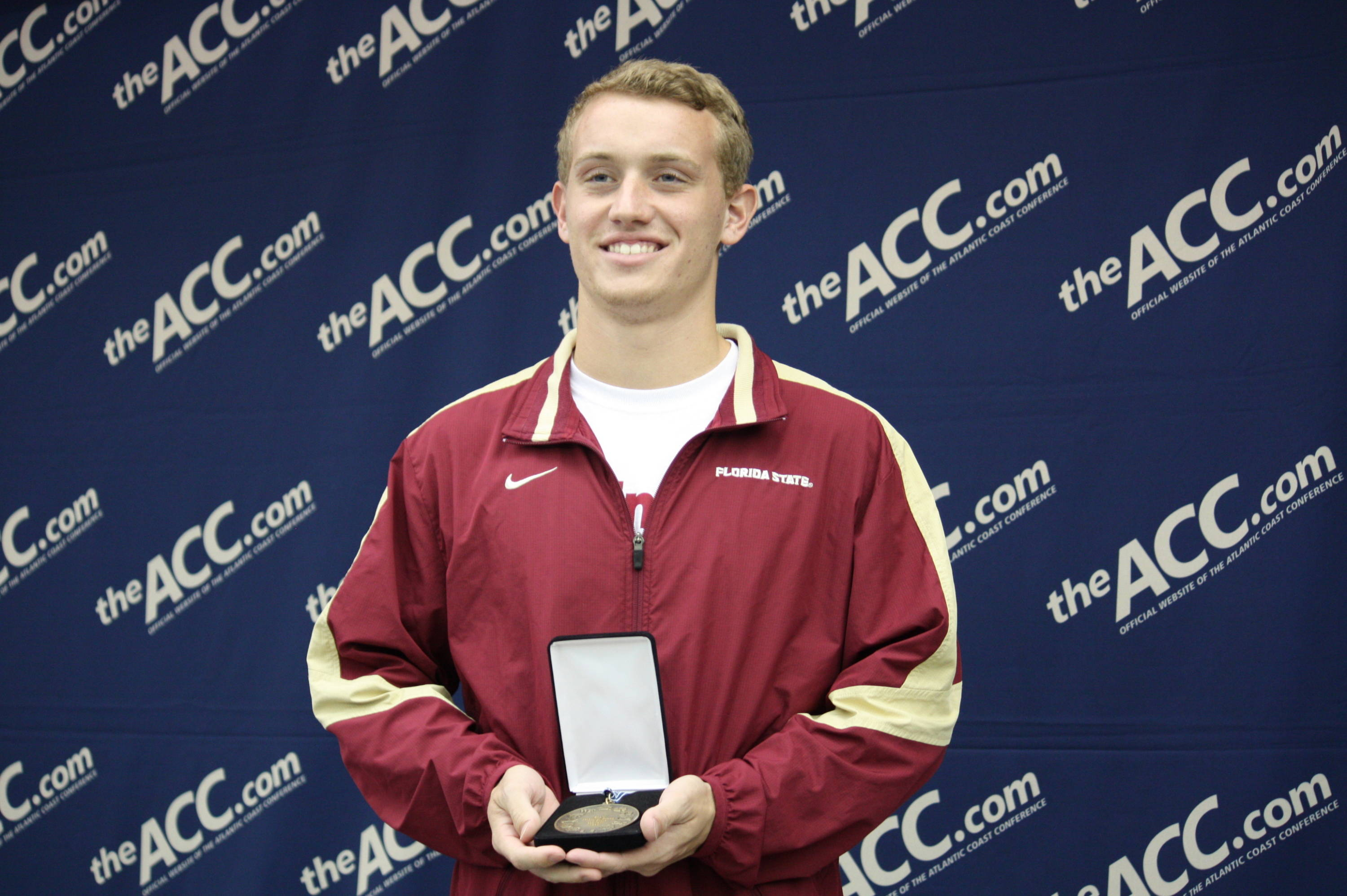 Junior Nick Klein grabs the bronze medal in the men's platform event.