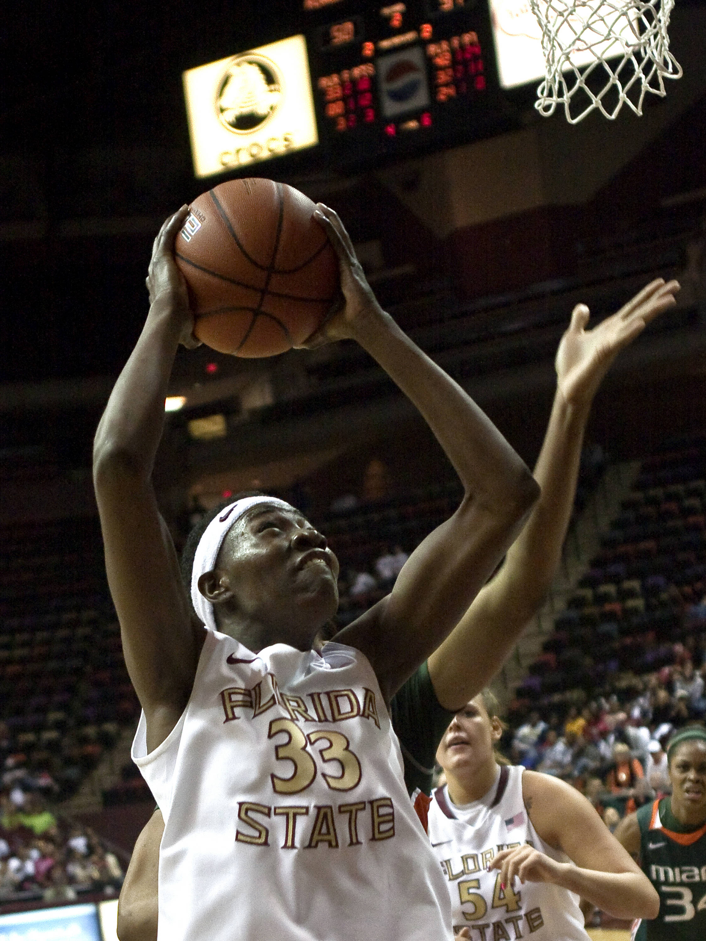 Natasha Howard (33), FSU vs Miami,  01/15/2012