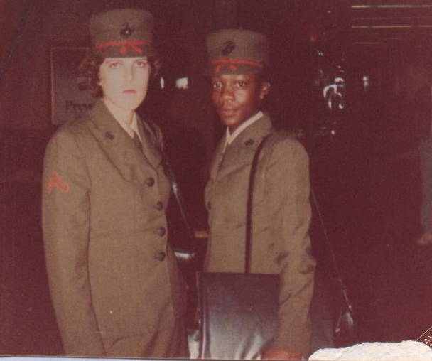 Amber Bryant's mother, Renee, served in the United States Marine Corps from 1983-86.