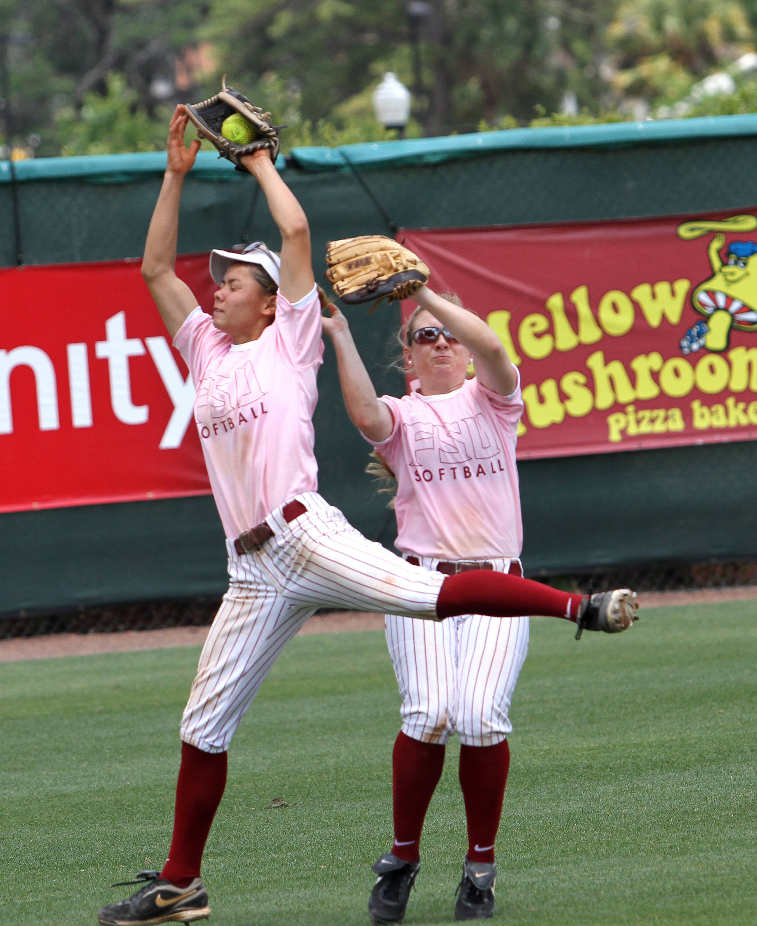 Courtney Senas, Kristin Austin, FSU vs GT,  04/15/2012