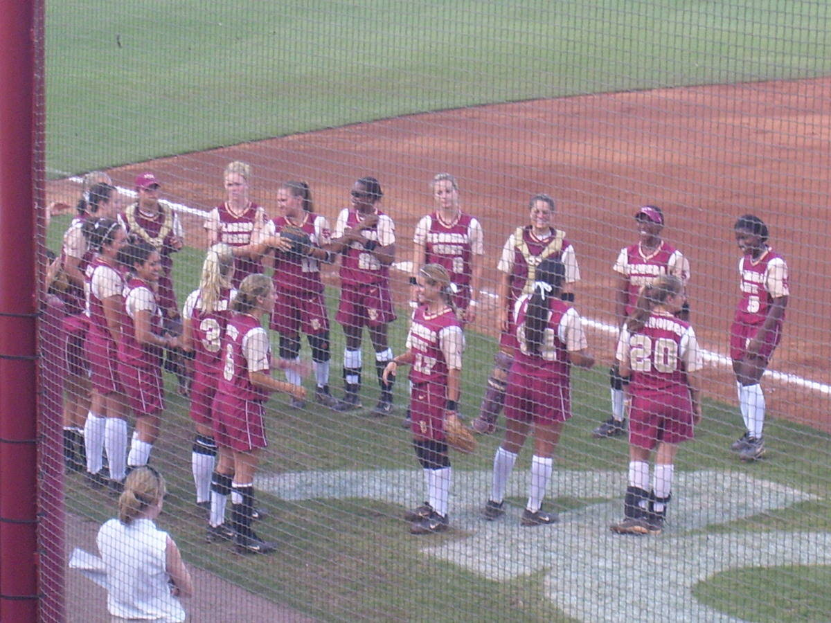 The Seminoles get fired up.