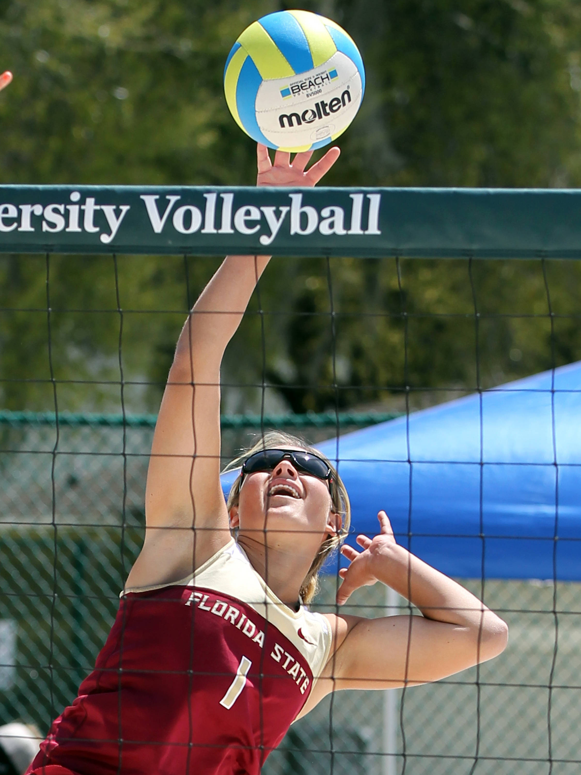 Melanie Pavels, FSU vs Jacksonville, 03/30/13 . (Photo by Steve Musco)