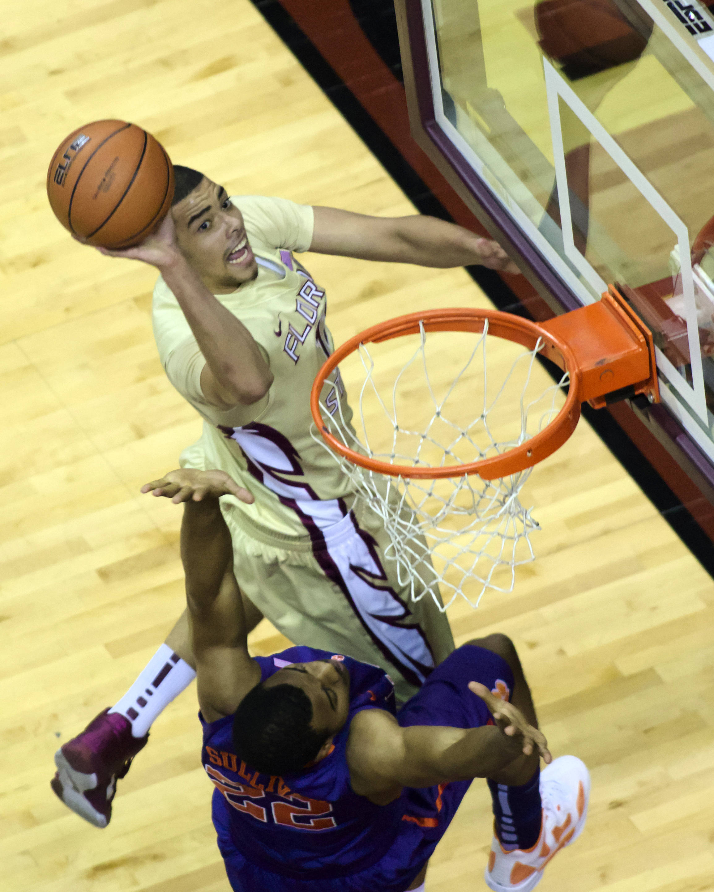 Kiel Turpin (11), FSU vs Clemson, 01/24/13. (Photo by Steve Musco)