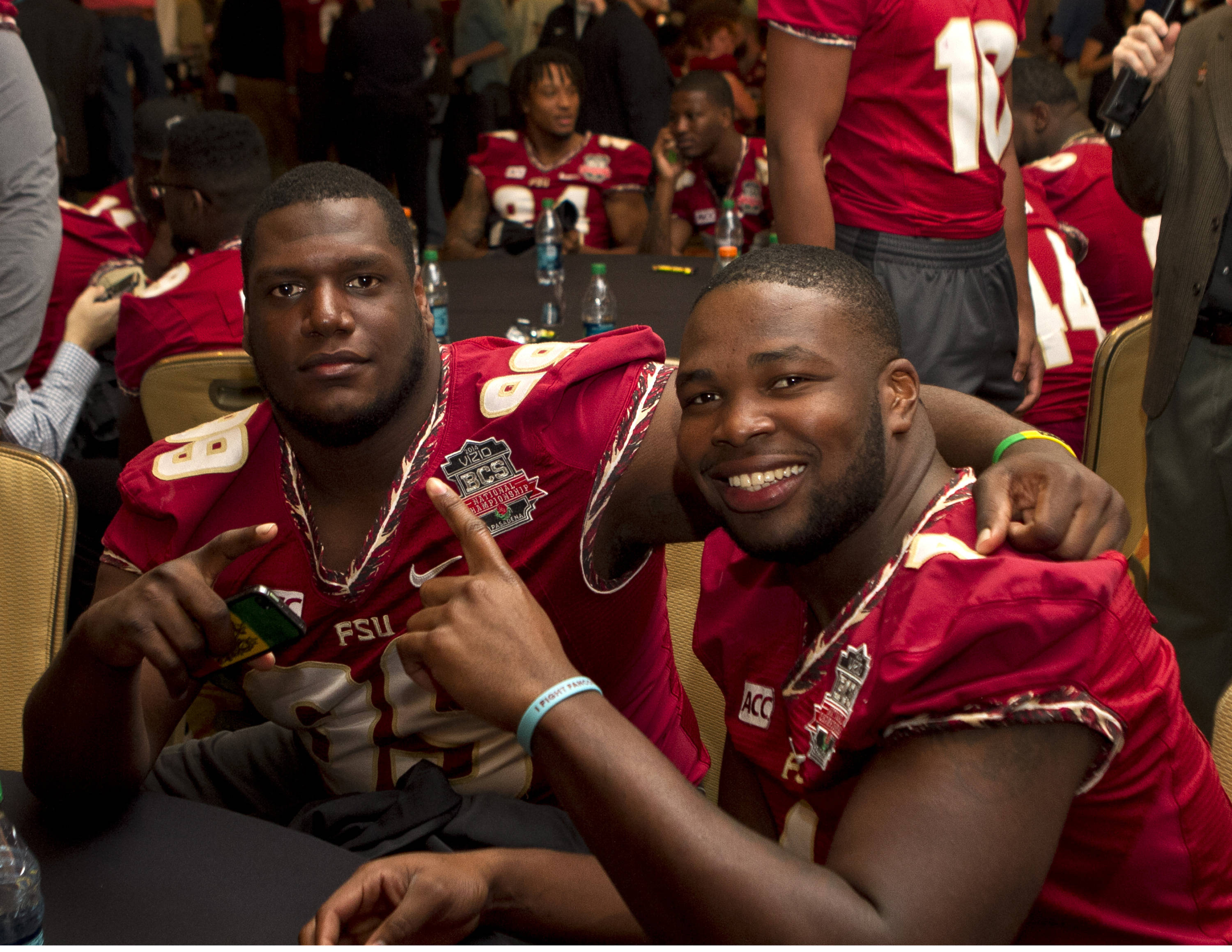 FSU at BCS Championship Media Day,  1-04-14,  (Photo by Steve Musco)