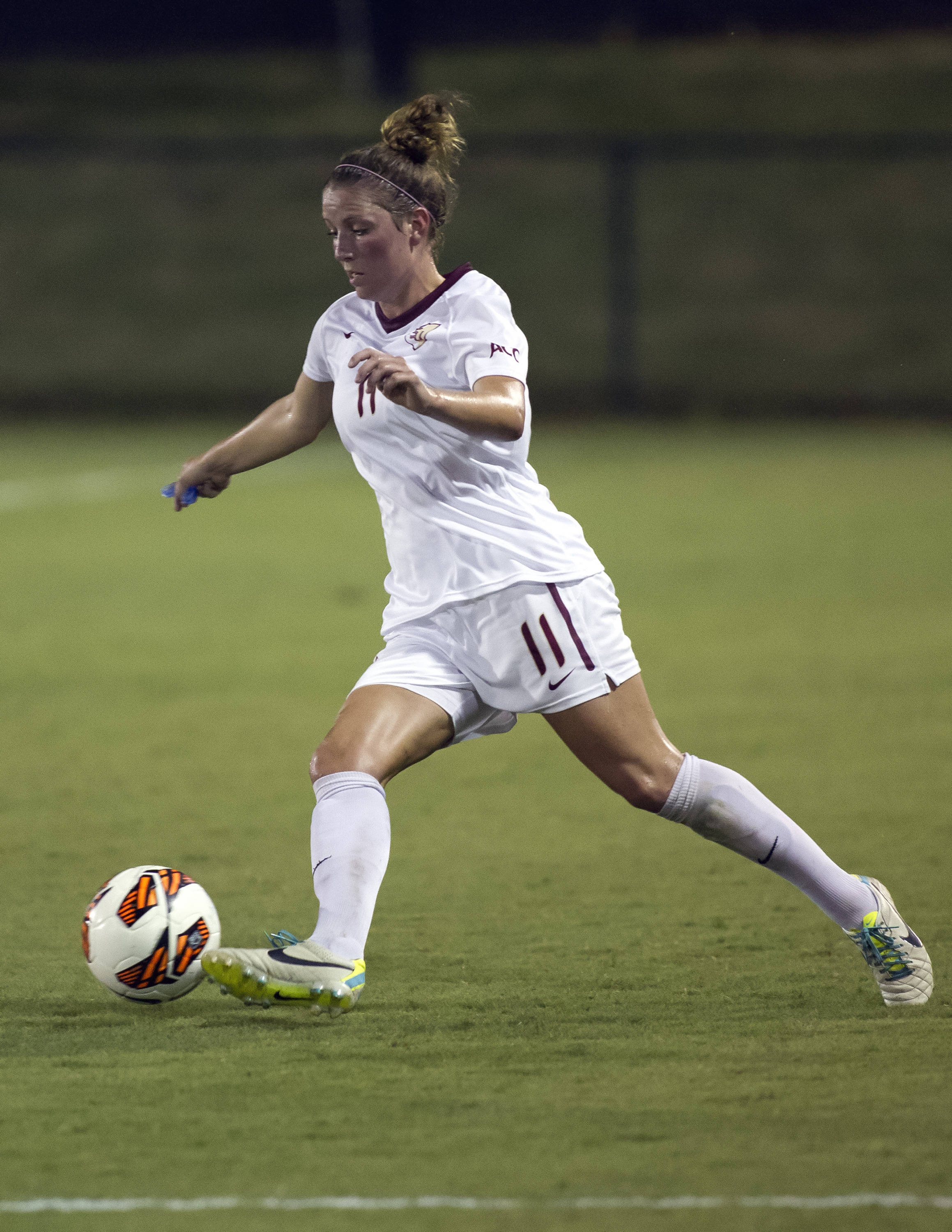 Isabella Schmid, FSU vs North Carolina,  9-18-13, (Photo by Steve Musco)