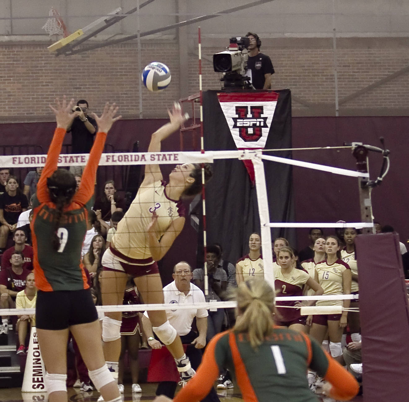Jekaterina Stepanova (3) FSU vs Miami 9/14/11