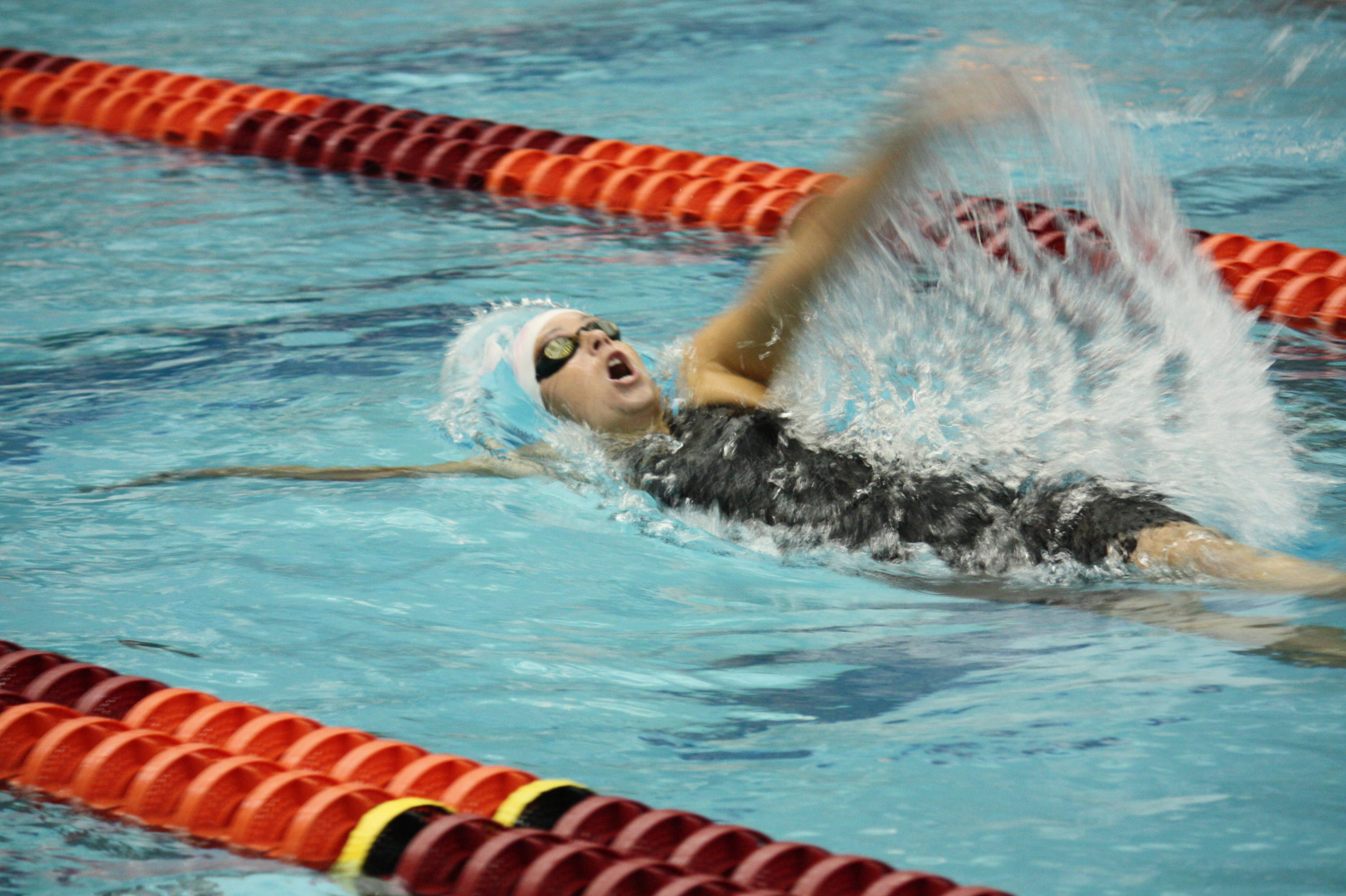 McKayla Lightbourn swam three personal best time this weekend in the 200 IM, 100 back and 200 back