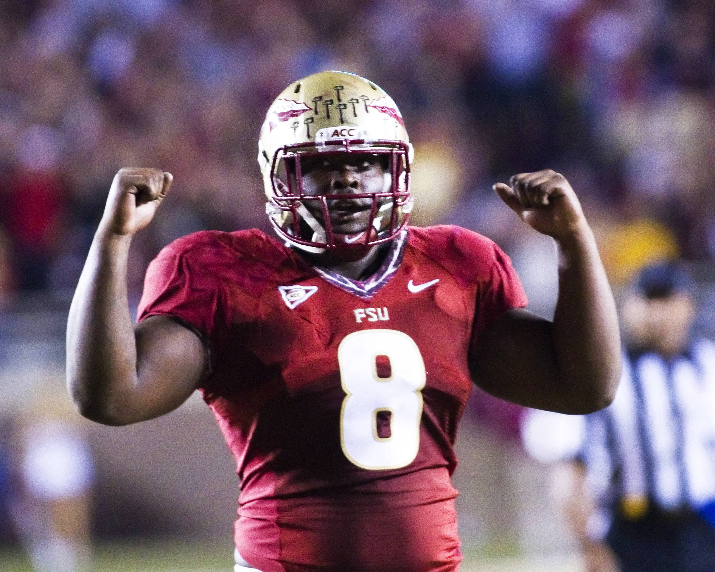 Timmy Jernigan (8), FSU vs Virginia, 11/19/2011