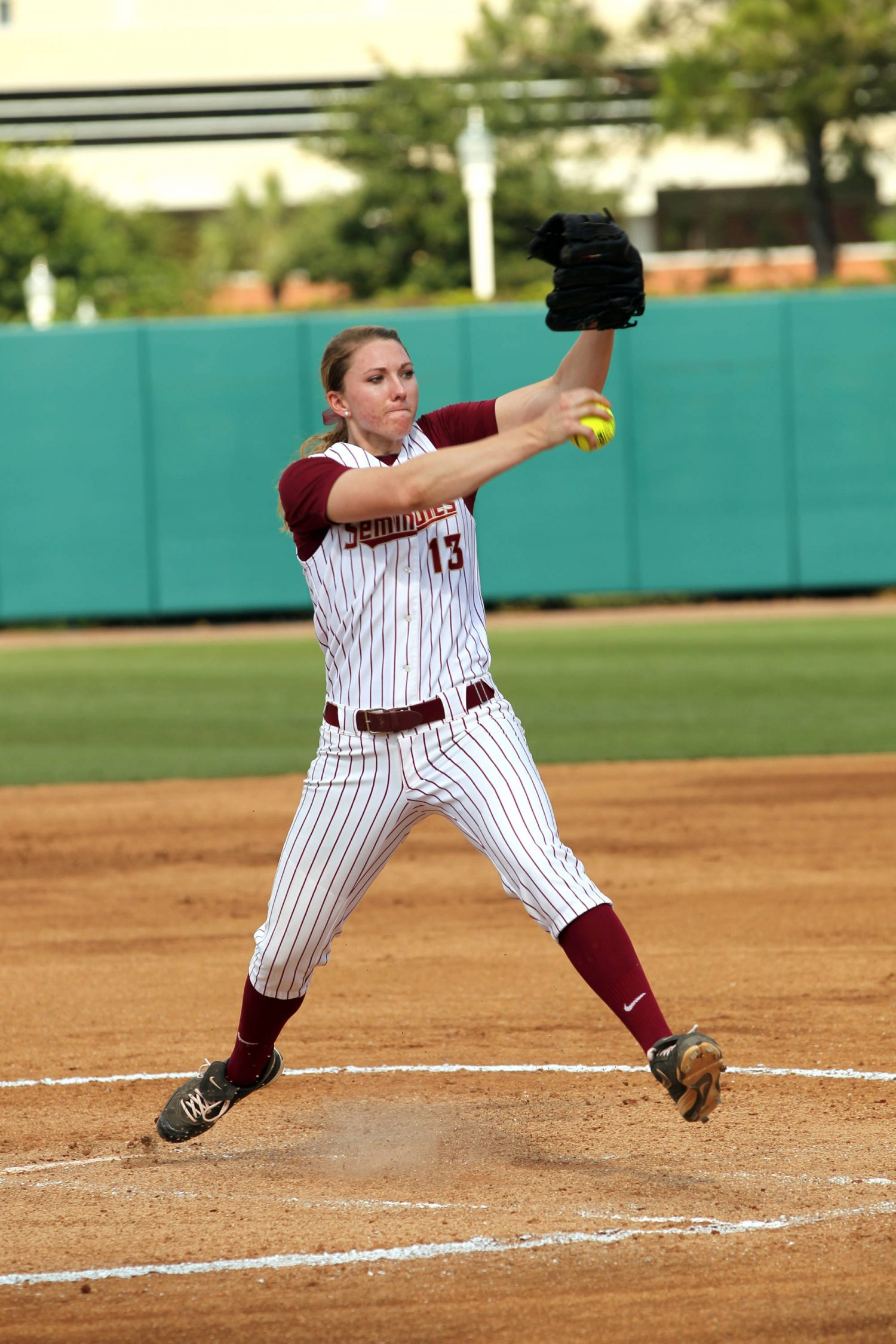 Lacey Waldrop, FSU VS BC, ACC Championship Quarterfinals, Tallahassee, FL,  05/09/13 . (Photo by Steve Musco)#$%^#$%^ Lacey Waldrop (13)