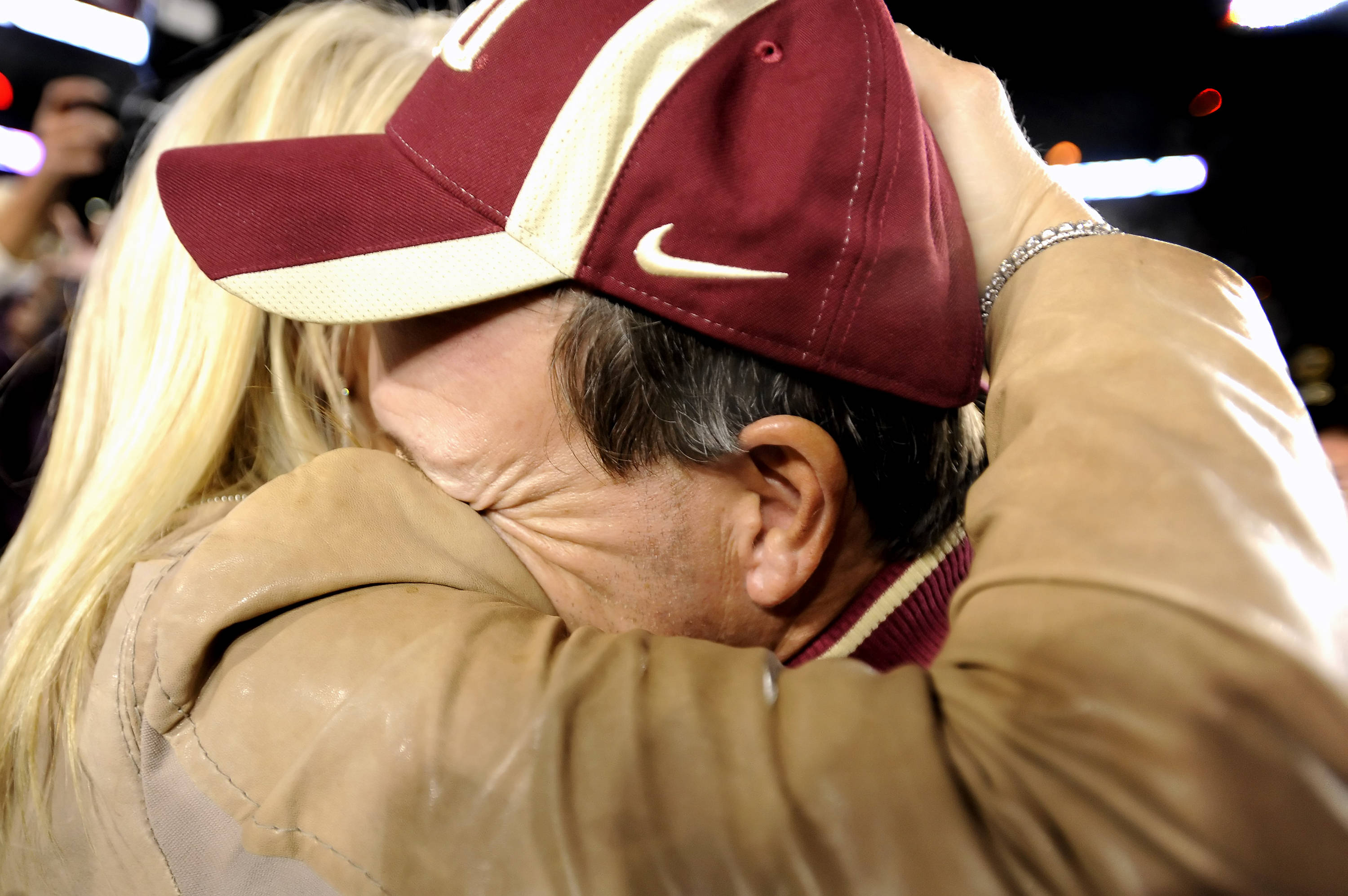 Jimbo Fisher celebrates with wife Candi