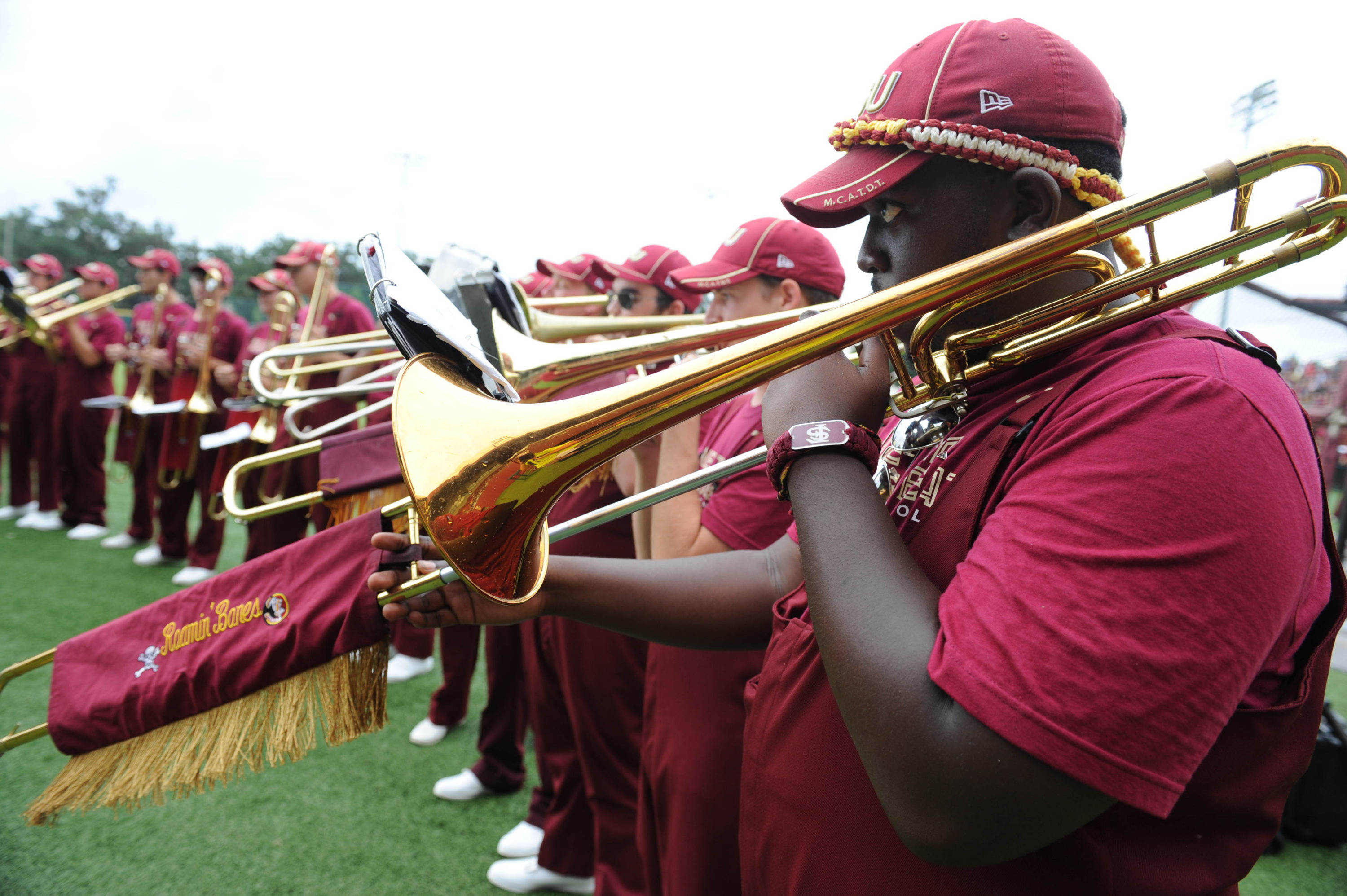 The Florida State Seminoles Marching Chiefs warm up before the start of the game against the Bethune-Cookman Wildcats. (Melina Vastola-USA TODAY Sports)