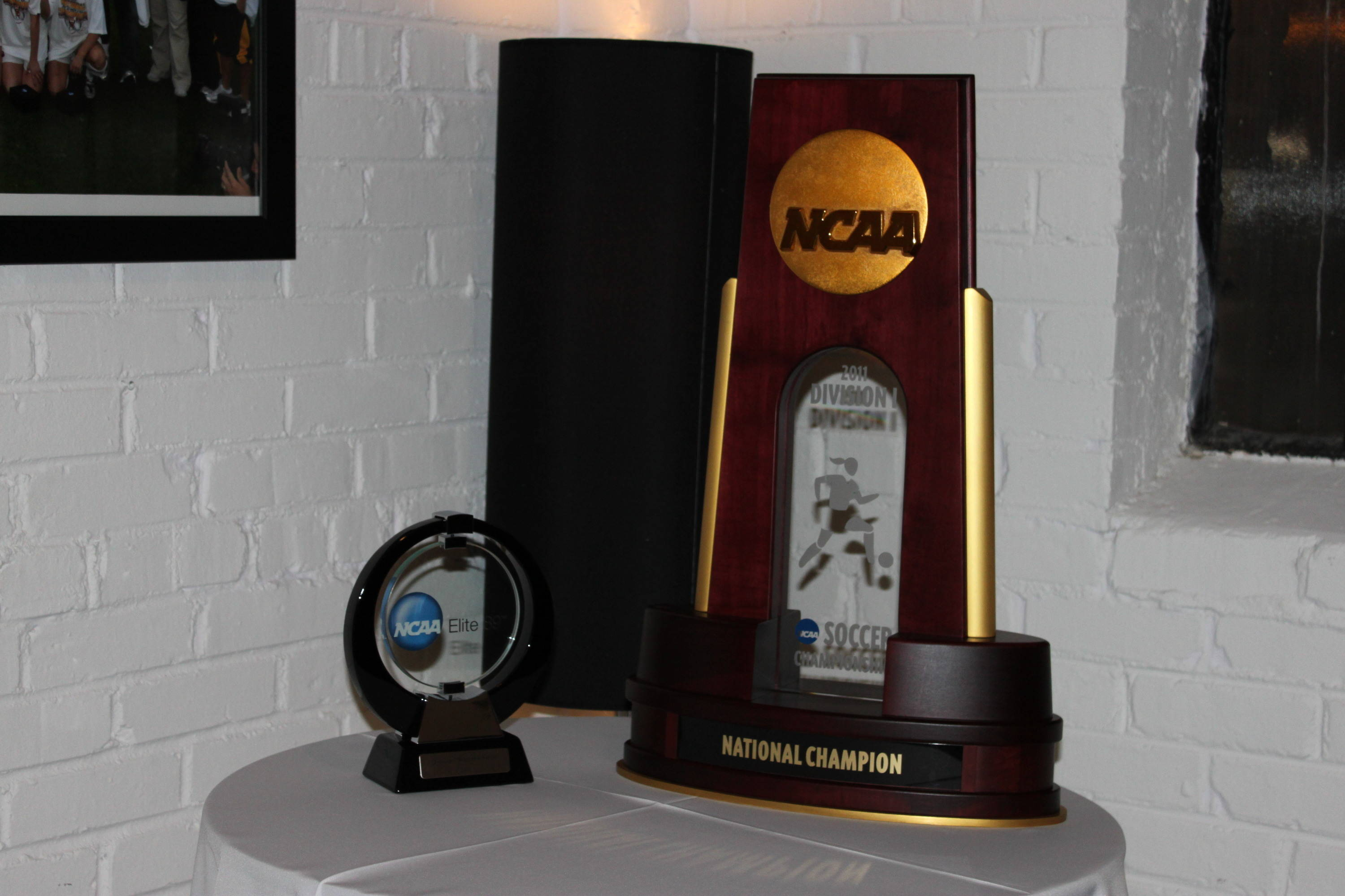 The Elite 89 award and the National Championship trophy