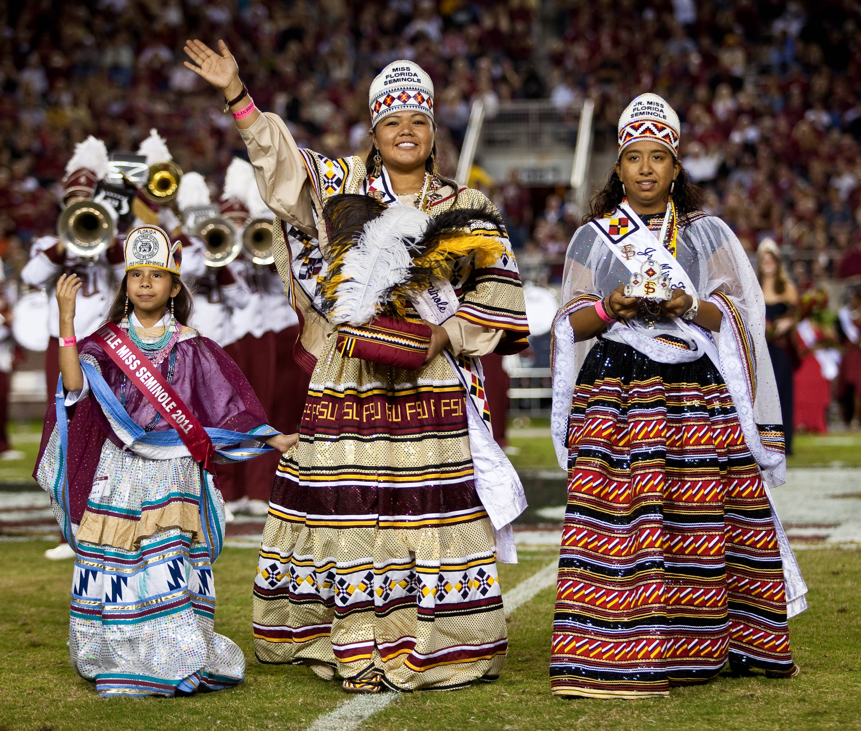 Members of the Seminole Tribe during homecoming