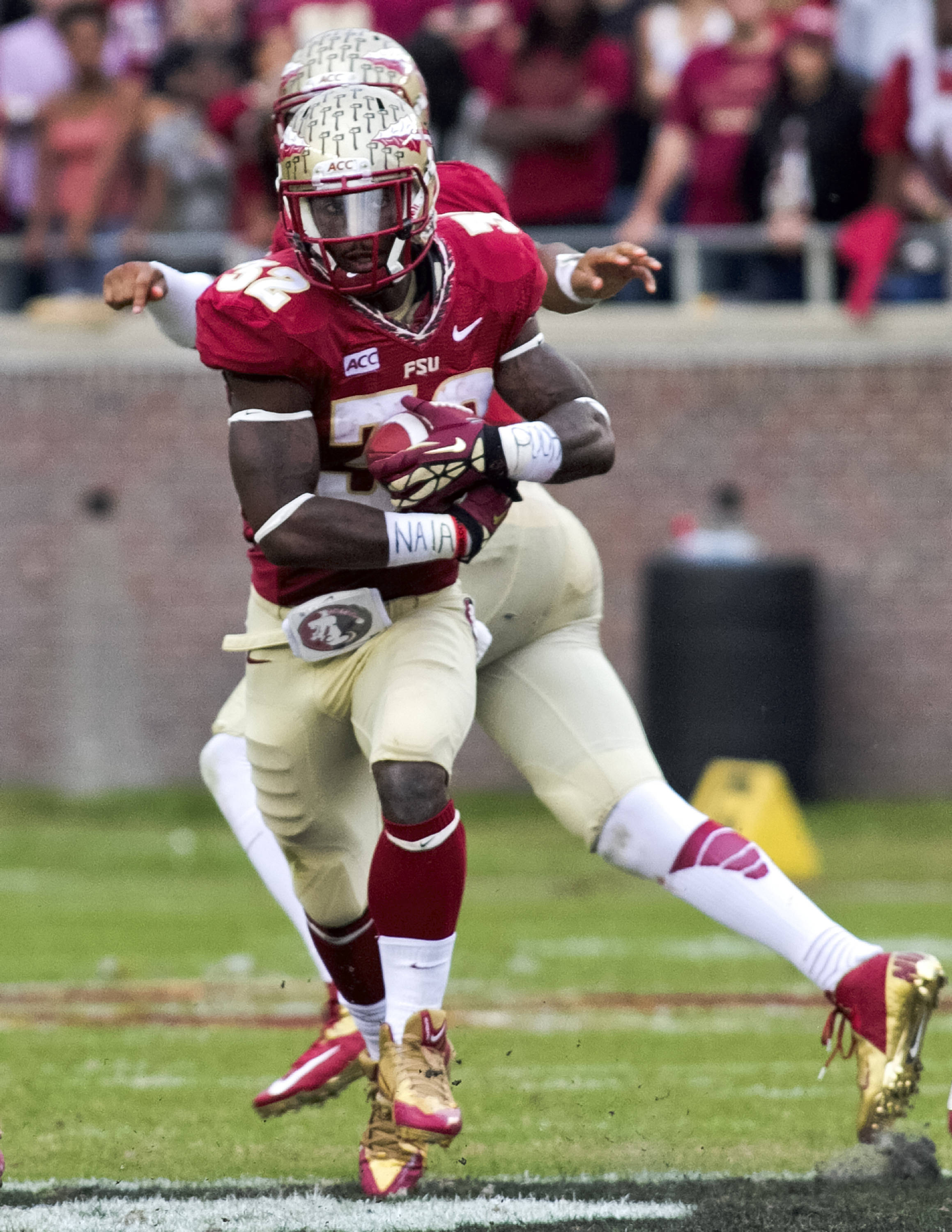James Wilder, Jr. (32), FSU vs Syracuse, 11-16-13, (Photo by Steve Musco)
