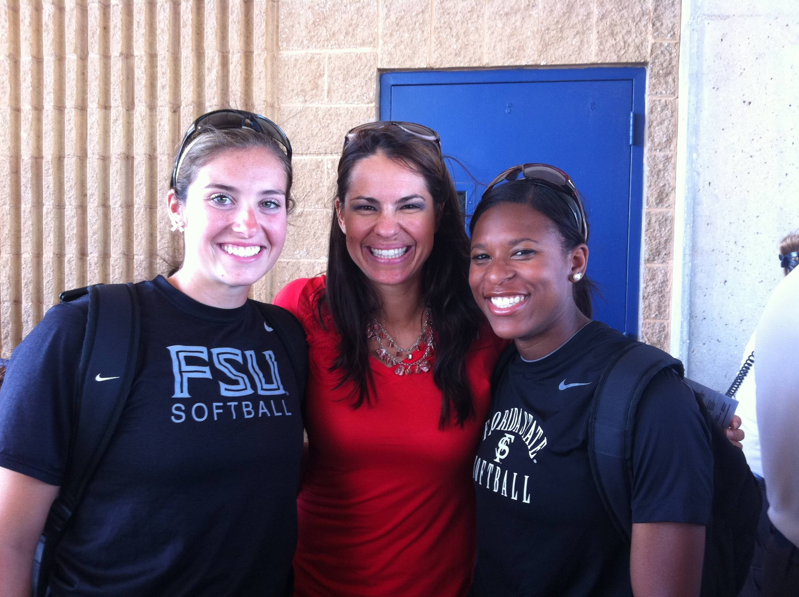 The girls meet Jessica Mendoza, an ESPN analyst and softball great