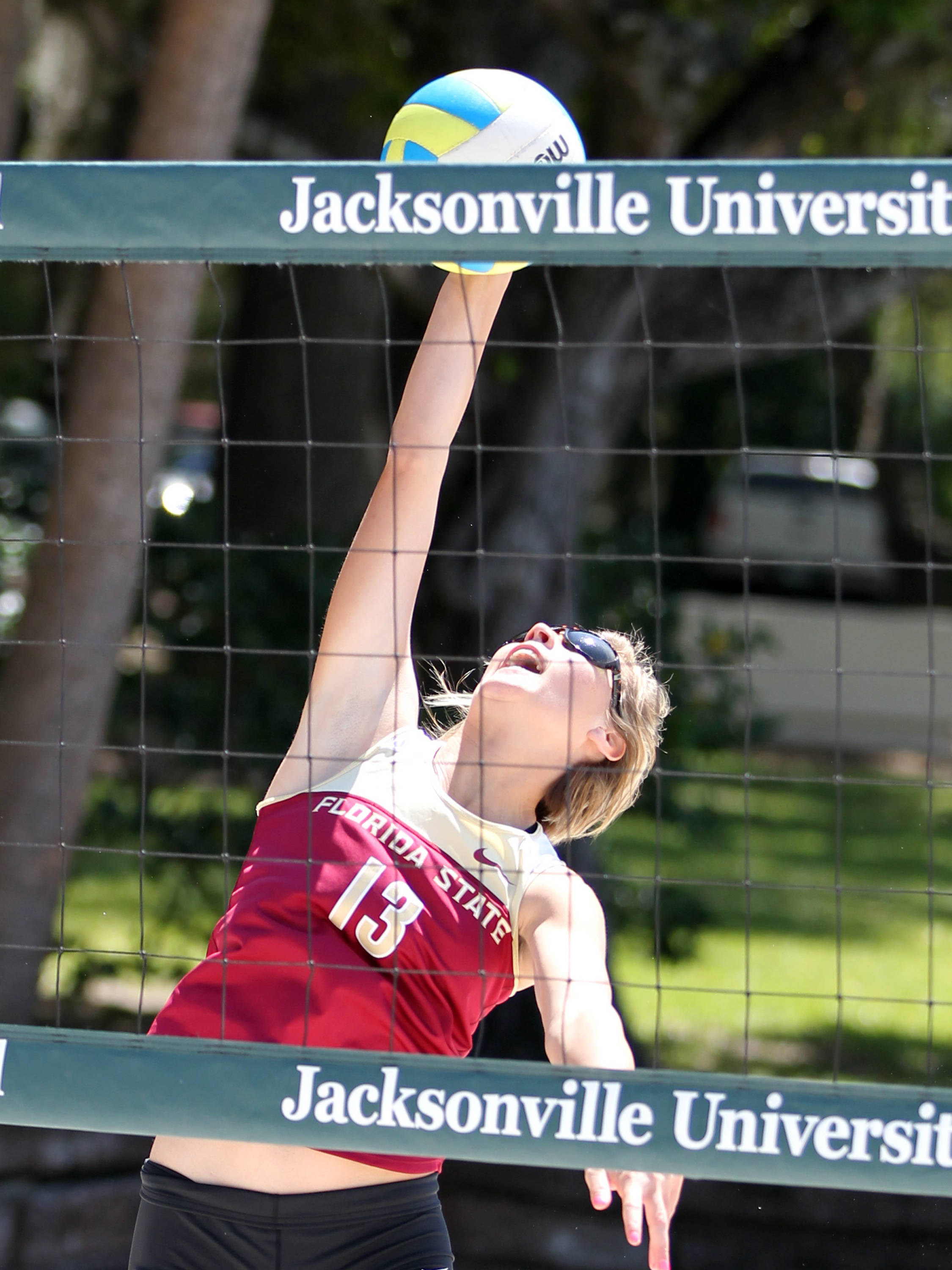 Jeassica McGregor, FSU vs Jacksonville, 03/30/13 . (Photo by Steve Musco)