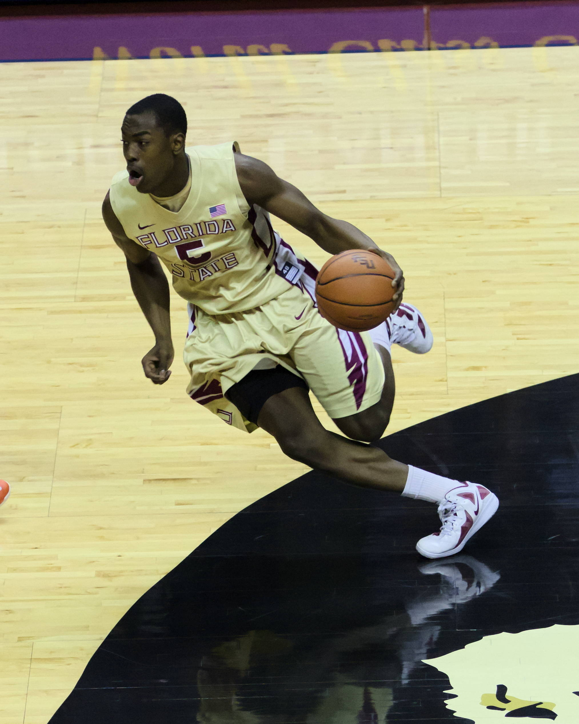 Montay Brandon (5), FSU vs Virginia, 03/07/13. (Photo by Steve Musco)