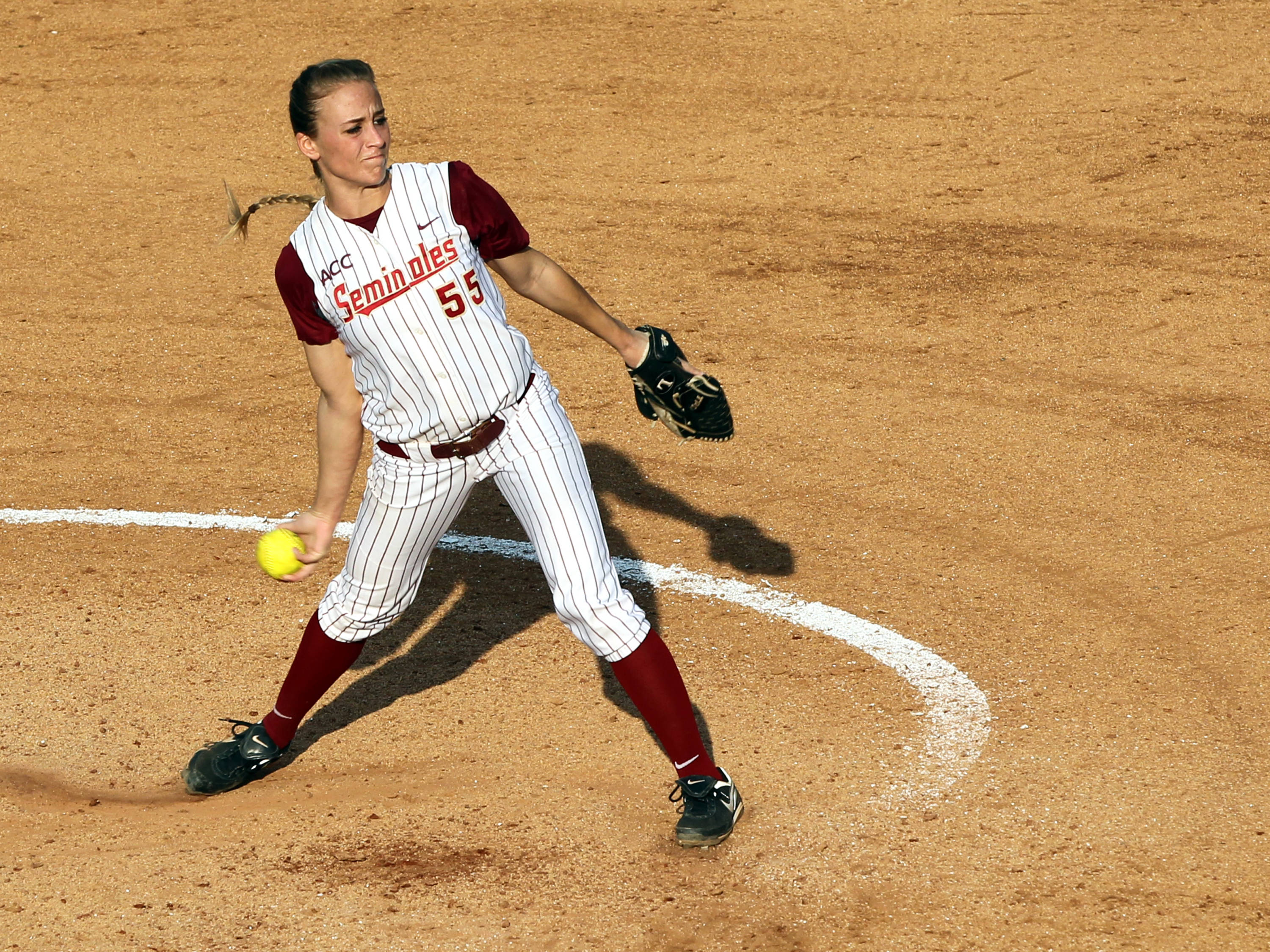 Monica Perry, FSU VS BC, ACC Championship Quarterfinals, Tallahassee, FL,  05/09/13 . (Photo by Steve Musco)