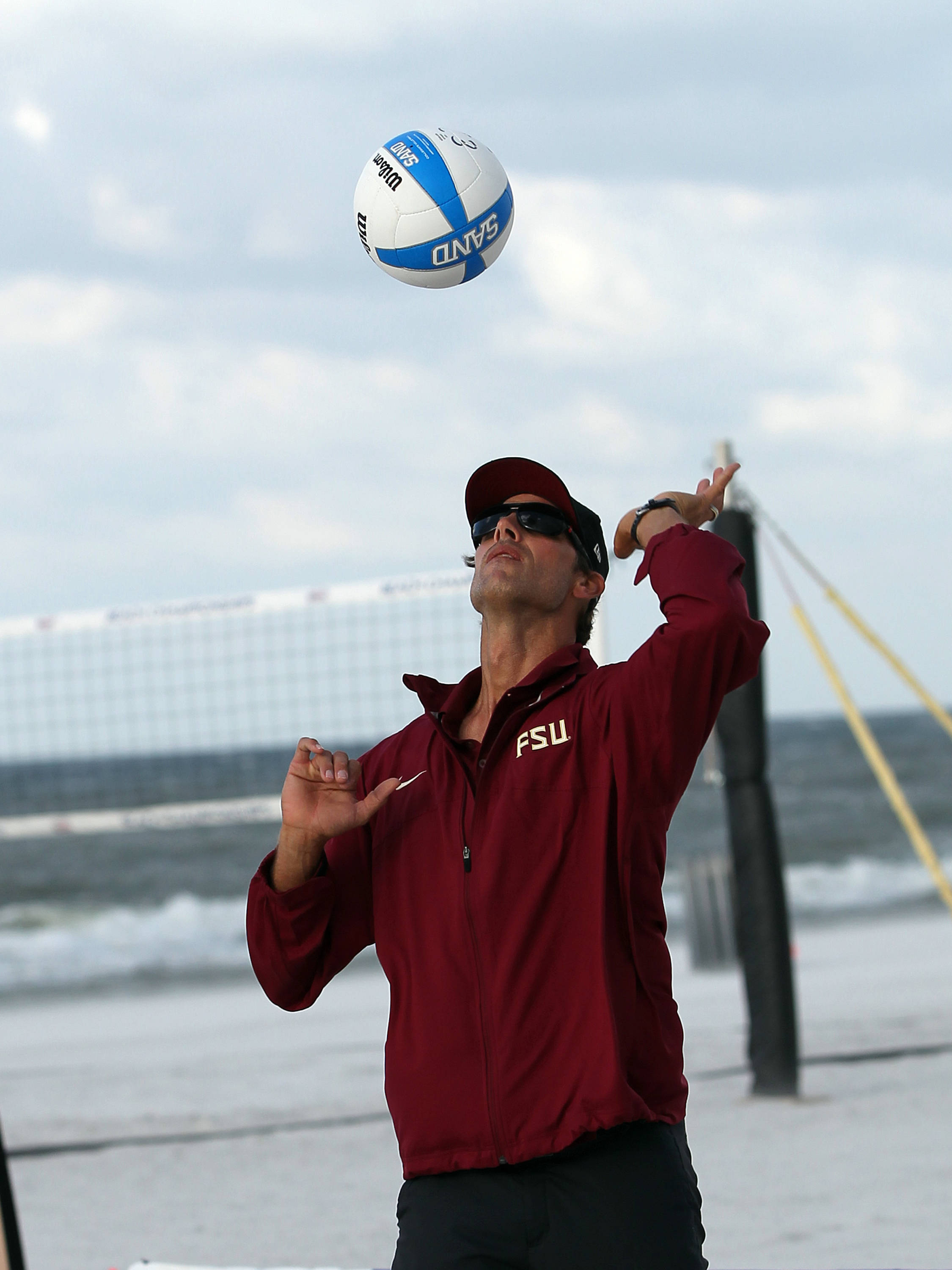 Assistant Coach Brian Corso, AVCA Collegiate Sand Volleyball National  Championships - Pairs,  Gulf Shores, Alabama, 05/05/13 . (Photo by Steve Musco)