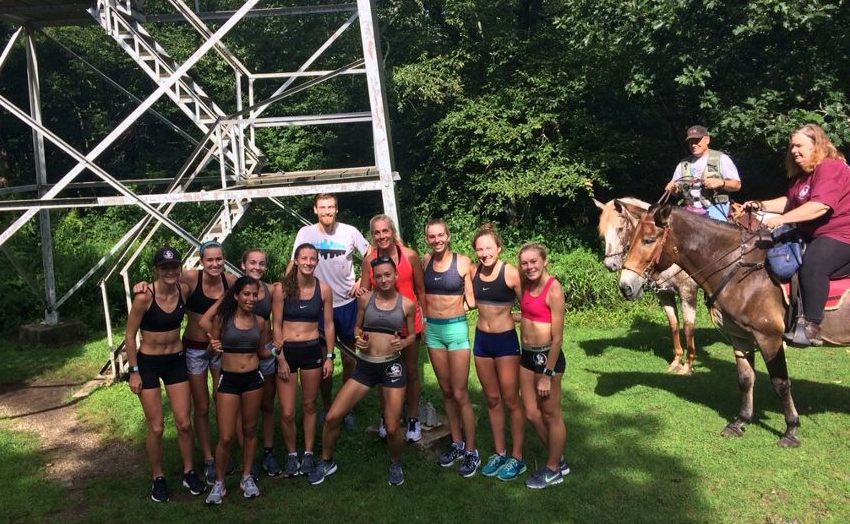 Women's Camp = Running, Napping, Eating (Repeat)