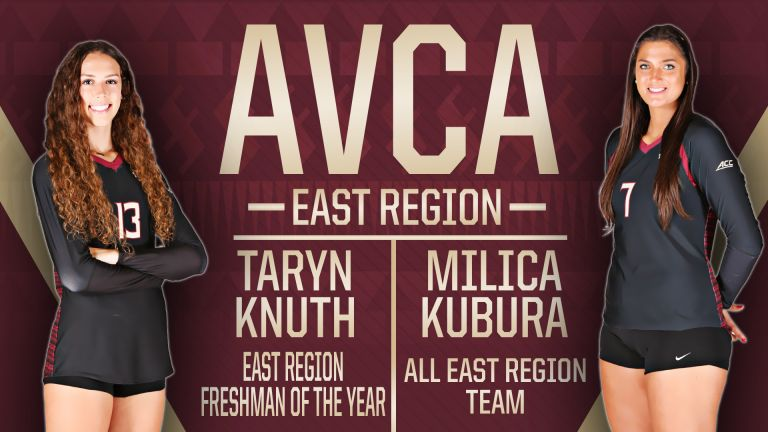 Kubura and Knuth Pick Up AVCA Regional Honors