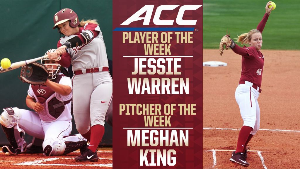 Jessie Warren and Meghan King Sweep ACC Weekly Honors