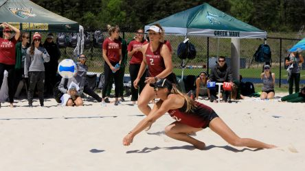 Beach Volleyball Stays Perfect In Pool Play