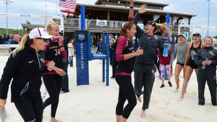 Beach Volleyball Wins Conference Championship