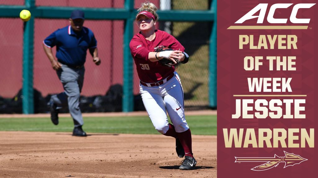 Jessie Warren Named ACC Player Of The Week