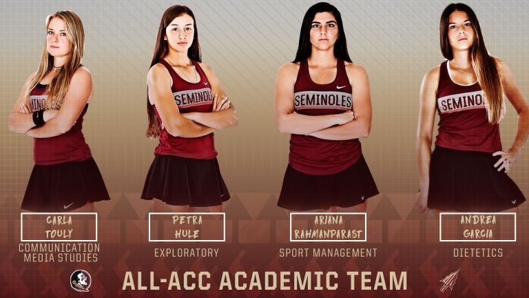 Women's Tennis Places a Conference High Tying Four on the All-ACC Academic Team
