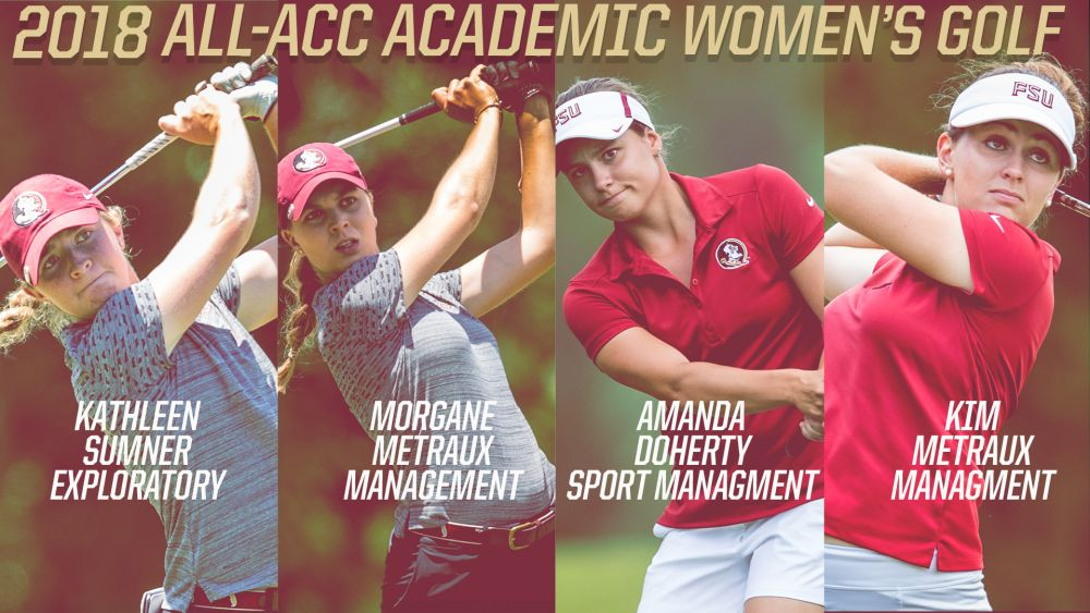 Women's Golf Leads League With Four Named To All-ACC Academic Team