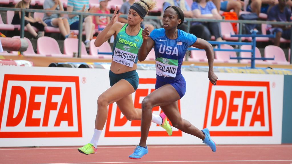Jones Storms To Sunday's World Junior 100 Hurdles Final