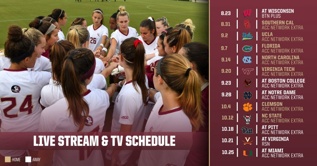 fsu soccer announces 2018 broadcast schedule