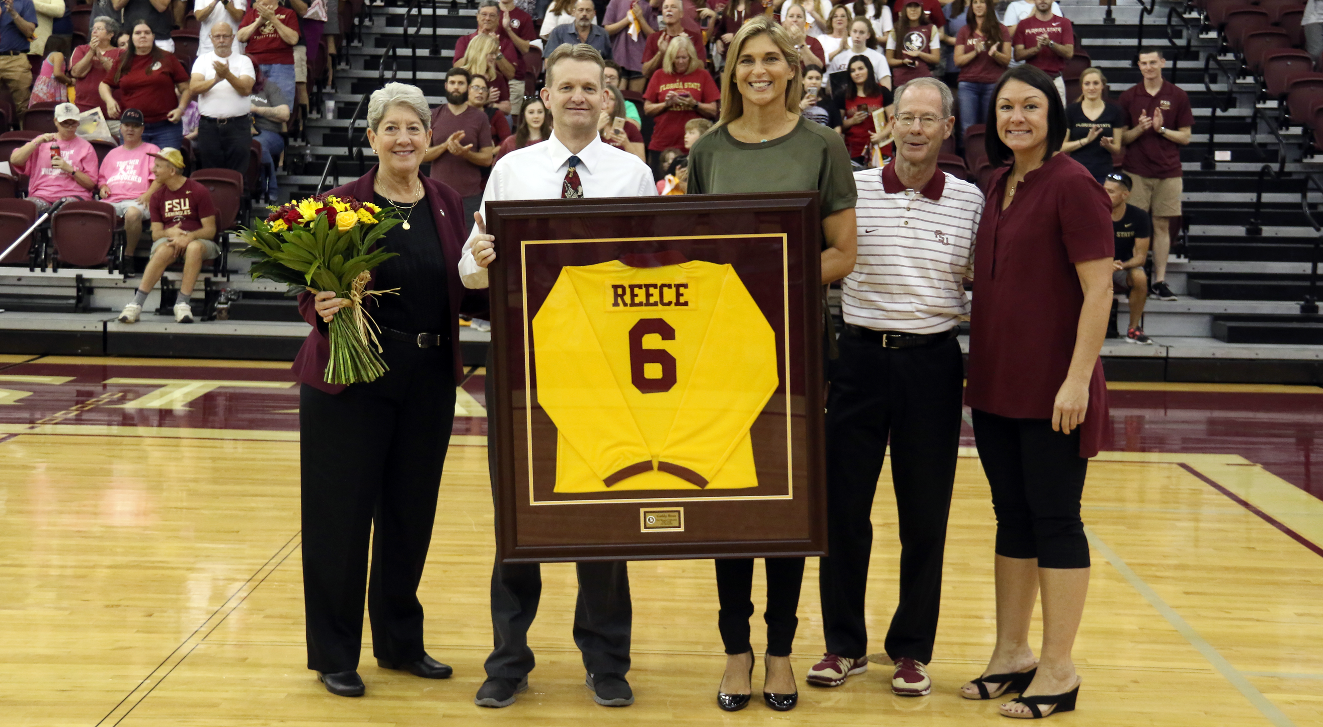 📸: Gabby Reece Number Retirement Ceremony