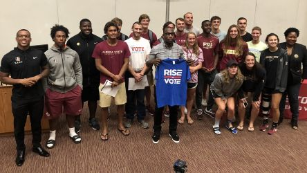 Former FSU Football Star Boldin Encourages Noles: 'Rise To Vote'