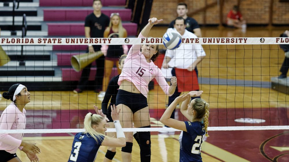 Volleyball Holds Off Late Rally to Top Tech