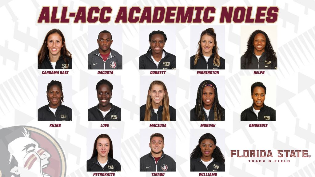 Led By Champs, T&F Nets 13 All-ACC Academic Honors