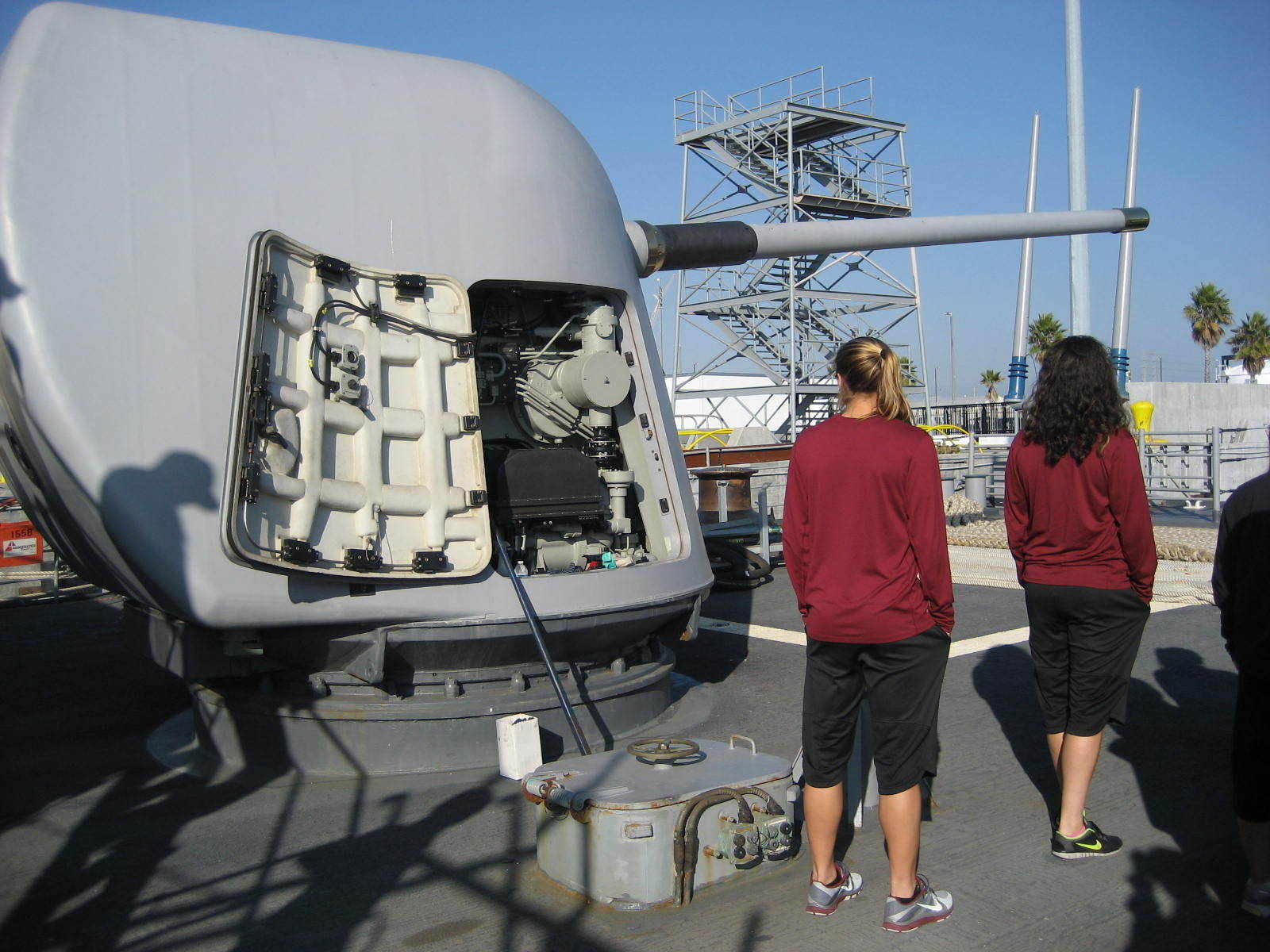 2012 College Cup - Florida State tours the USS Princeton at the San Diego Naval Base