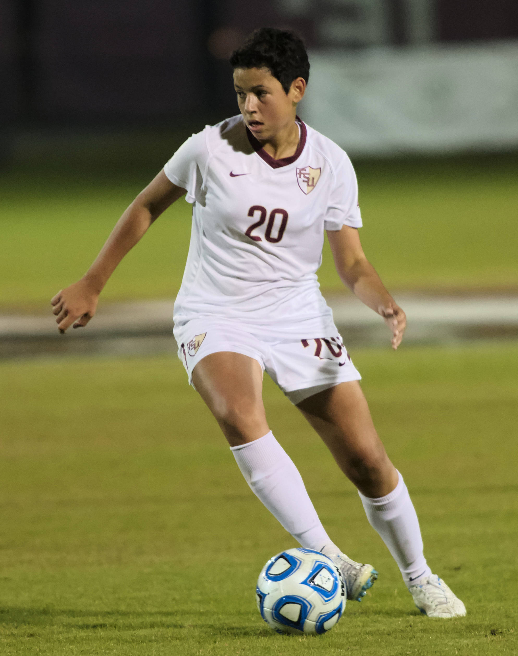 Nora Kervroedan (20), FSU vs MVSU, 11/09/12. (Photo by Steve Musco)