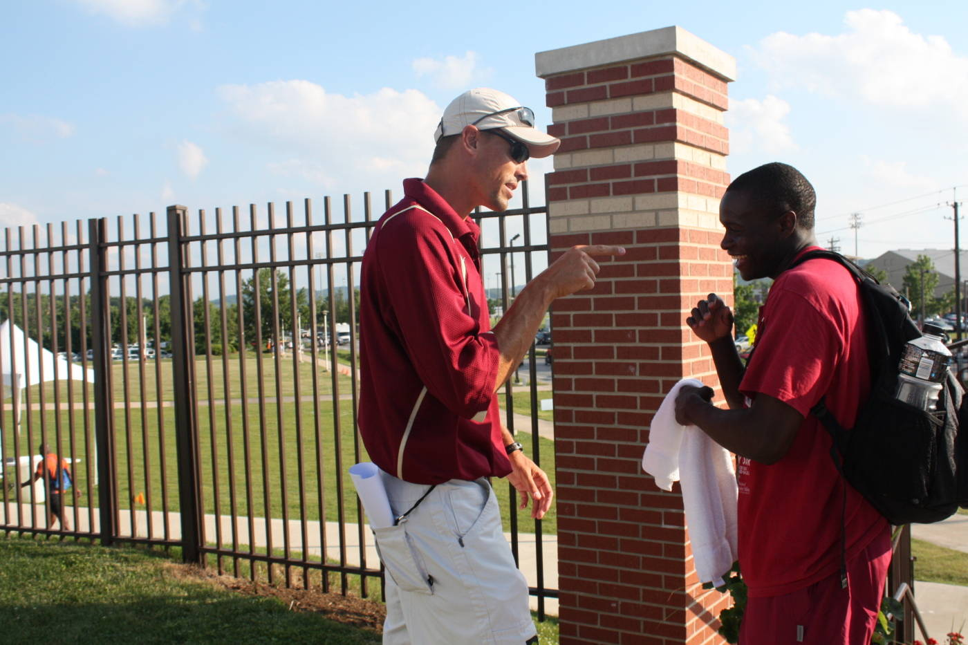 Coach Harnden with Ngoni Makusha.