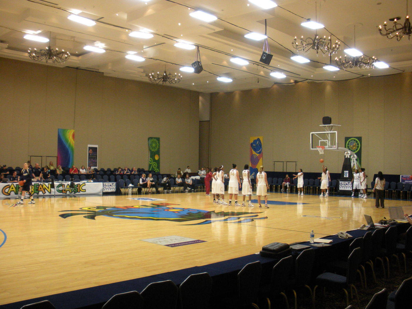 All games at the Caribbean Classic are being played in a converted ballroom.