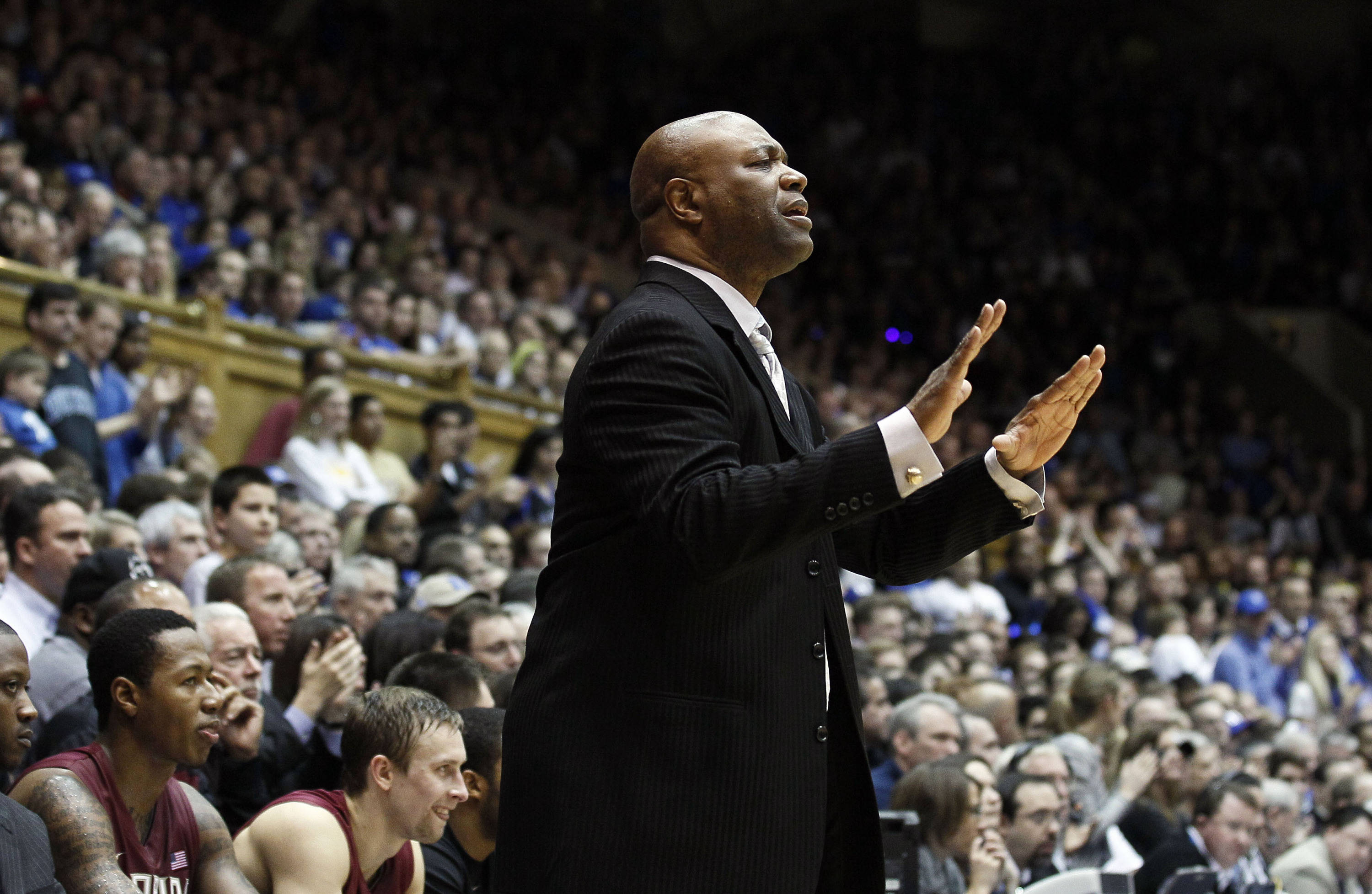 Florida State coach Leonard Hamilton directs his team during the second half. (AP Photo/Gerry Broome)