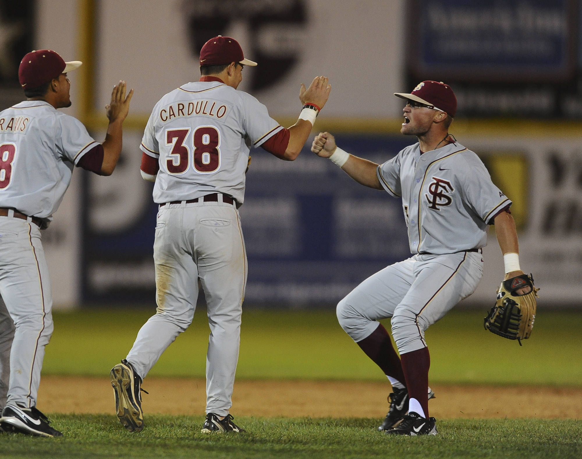 Devon Travis, Stephen Cardullo, and James Ramsey celebrate the win (Photo Courtesy Steve McLaughlin)