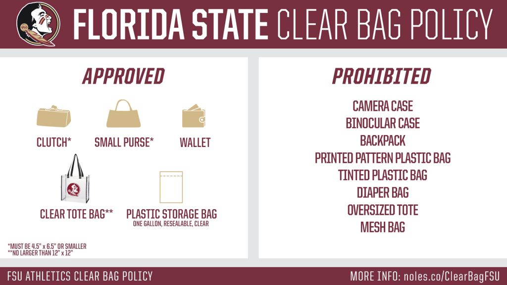 FSU Clear Bag Policy